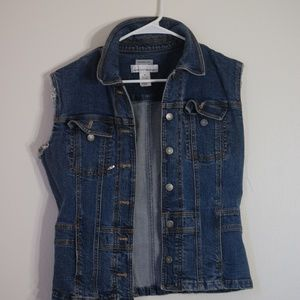 Unisex sleeveless denim vest